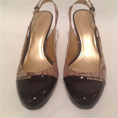 coach high heel shoes 91 coach shoes coach slingback stiletto high heels