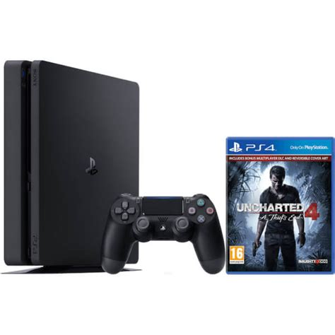 Sony Playstation 4 Ps4 Free Uncharted sony playstation 4 slim 500gb console includes uncharted 4 consoles zavvi