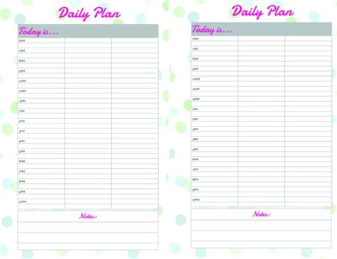 Free Printable Daily Calendar Planner Page Daily Calendar Template 2018