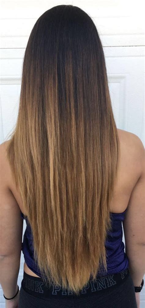 ambre hair on a nlone brown ombre v cut long straight hair hair pinterest