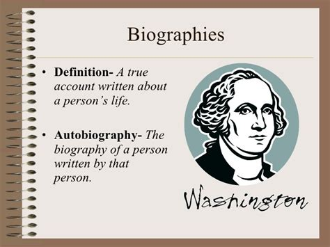 meaning of biography and autobiography definition for biography