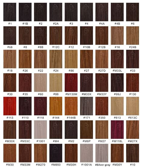 hair color chart for braids xpressions hair color chart
