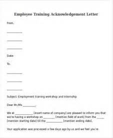 Acknowledgement Agreement Template doc 25503300 employee training contract sample