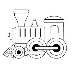 train wth outlines colouring pages