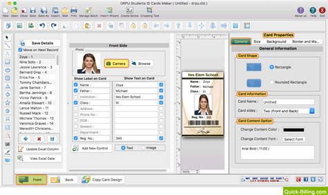 id card designer for mac design and print multiple id student id card maker software for mac design student id