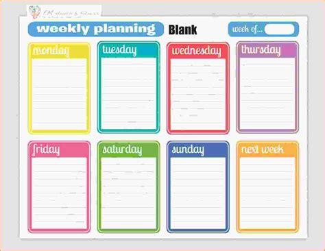 fitness plan template weekly workout schedule calendar template calendar template 2016