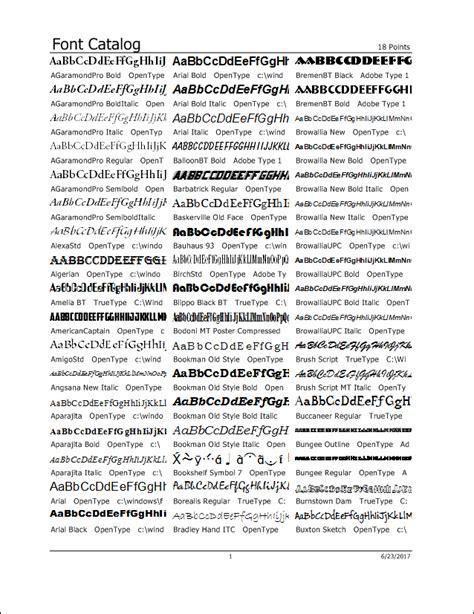 printable font catalog printer s apprentice font manager for windows print