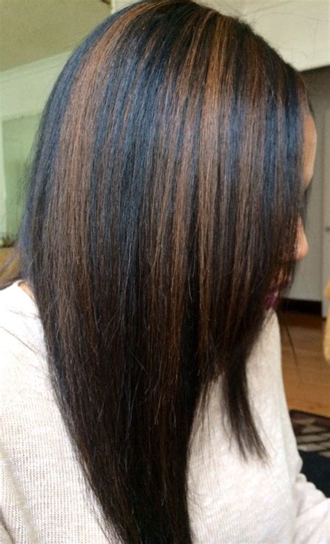 images of women of color with highlights in medium brown hair black hair with caramel highlights hair love pinterest