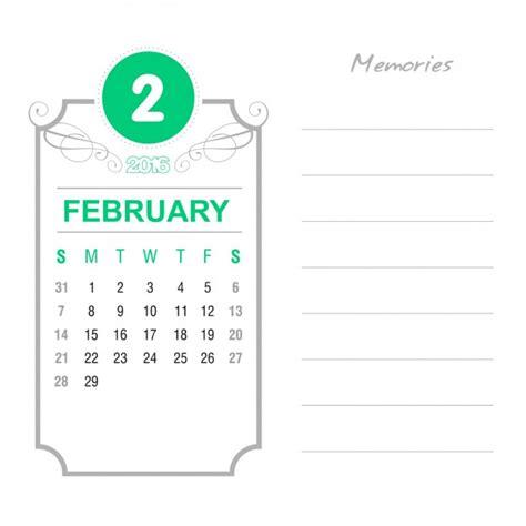 Calendario Febrero 2010 Vintage February Calendar 2016 Vector Free