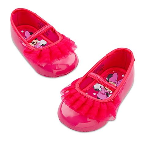 baby minnie mouse shoes disney store minnie mouse ballet flat pink shoes 0 6