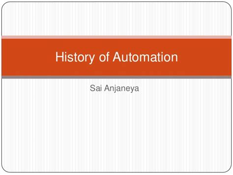 industrial automation history