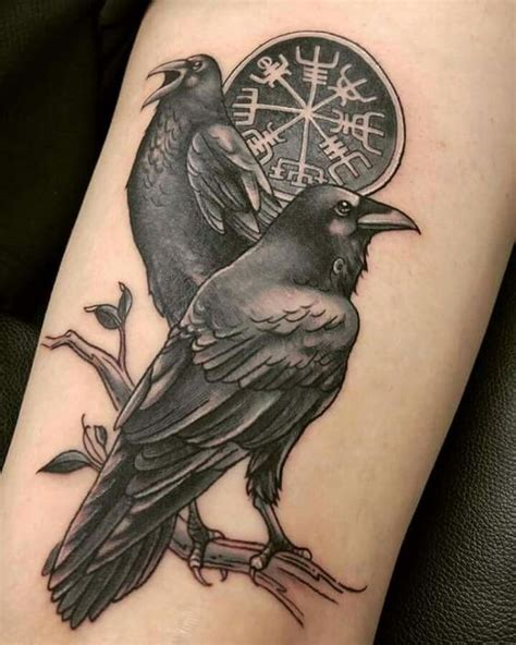 huginn and muninn tattoo 30 images that will prove this bird is way