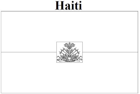 free blank haitian flag coloring pages