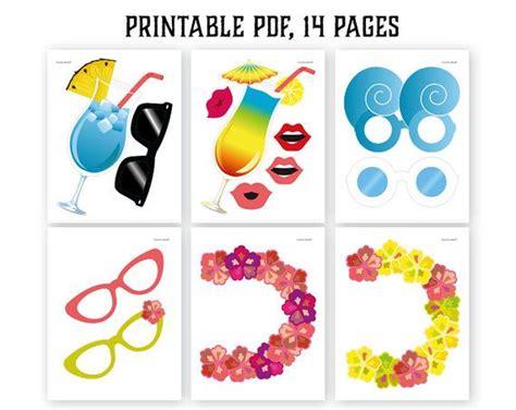 hawaiian photo booth props printable pdf luau photo hawaiian photo booth props printable pdf luau photo