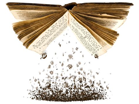 the of falling books book with letters falling out images frompo