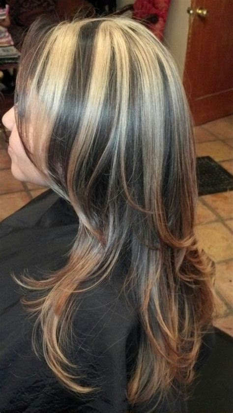what is hair chunking blonde chunks w ombre wedding dreams pinterest