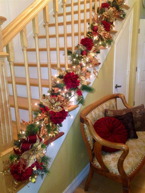 garland for stairs christmas staircase decorations staircase garland 2013 stairs