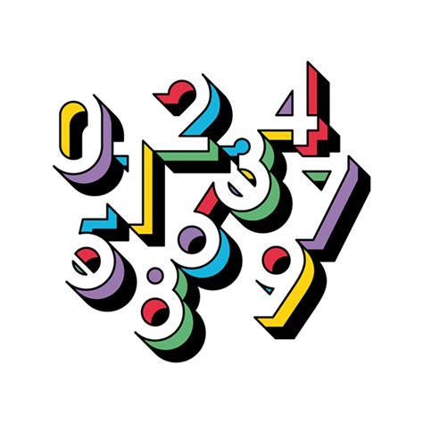 design majalah unik tipografi angka yang unik menggunakan negative space