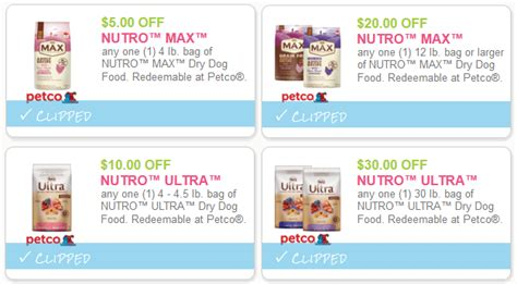 printable nutro max dog food coupons save 65 on nutro max dry dog food mylitter one deal