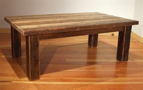 i think this is the perfect old barn wood coffee table