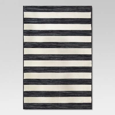 Black And White Stripe Outdoor Rug Outdoor Rug Worn Stripe Black White Threshold Target
