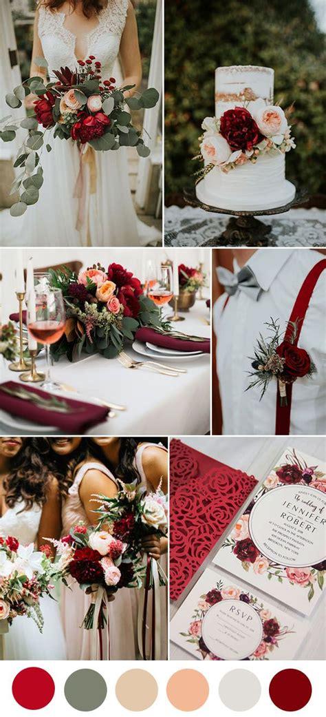 8 beautiful wedding color ideas in shades of wine and burgundy casamento paleta de