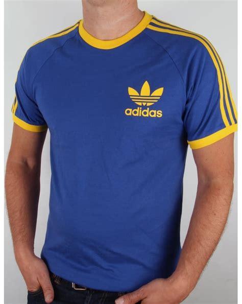Adidas Classic T Shirt adidas originals trefoil 3 stripes t shirt bold blue