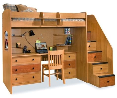 Loft Beds With Futon And Desk by Bunk Bed With Futon And Desk Emerson Low Loft Bed With