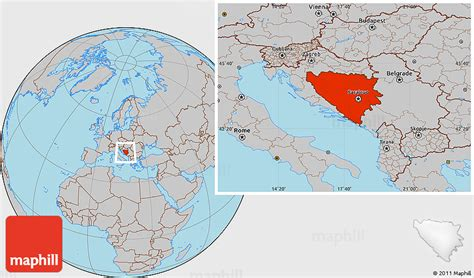 where is bosnia on a world map gray location map of bosnia and herzegovina
