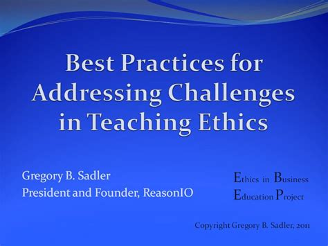 Business Ethics Syllabus Mba by Orexis Dianoētikē Lessons From The Ethics In Business