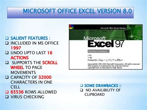 Versions And Functions Of Ms Excel