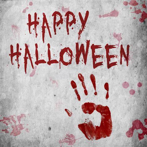 blood handprint halloween stock illustration illustration