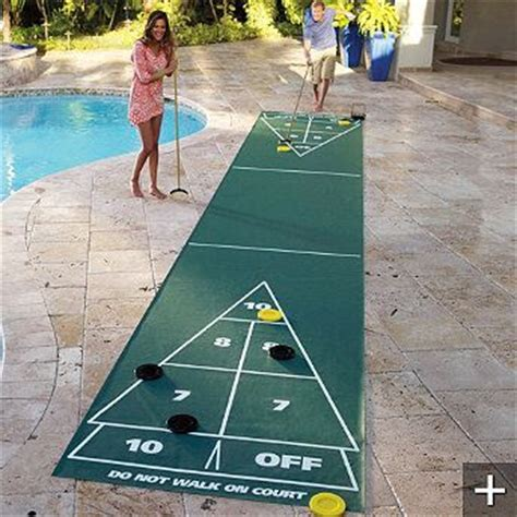 backyard shuffleboard court portable shuffleboard court a must have for the pool deck