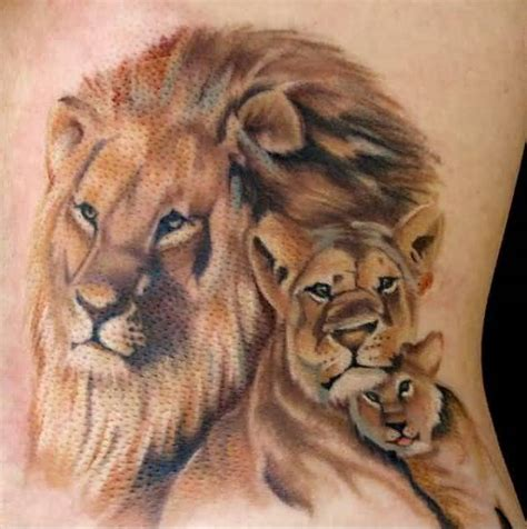 lion and lioness tattoo designs tattoos lions lioness tattoos