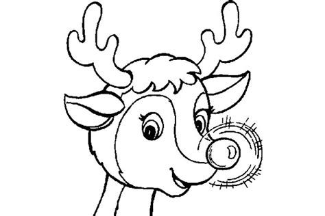 rudolph the red nosed reindeer coloring pages sketch