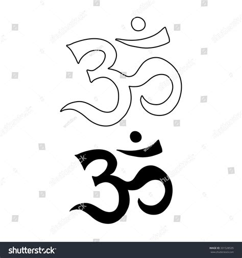 om symbol aum ohm hand drawn vector tattoo art