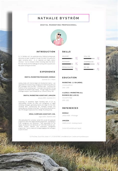 Cool Resume Designs by Cool Creative Resume Designs Bongdaao
