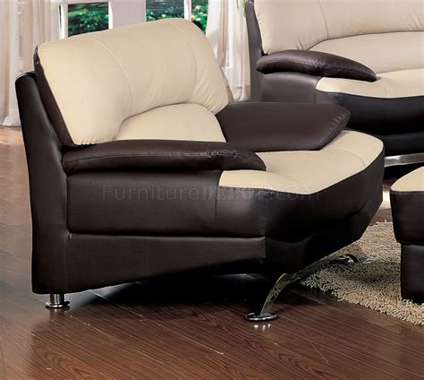 Saddle Brown Leather Sofa Saddle Brown Two Tone Bonded Leather Modern Sofa