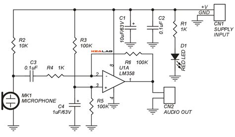 Electret Microphone Lifier Circuit Also Electret Microphone Lifier | electret microphone pre schematic get free image