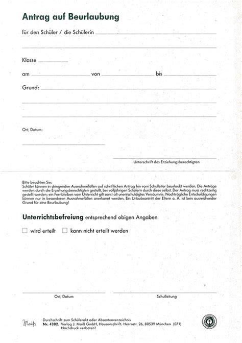 Muster Kündigung Mit Freistellung Freistellung Vom Unterricht Vorlage Antrag Auf Beurlaubung Block A 50 Blatt