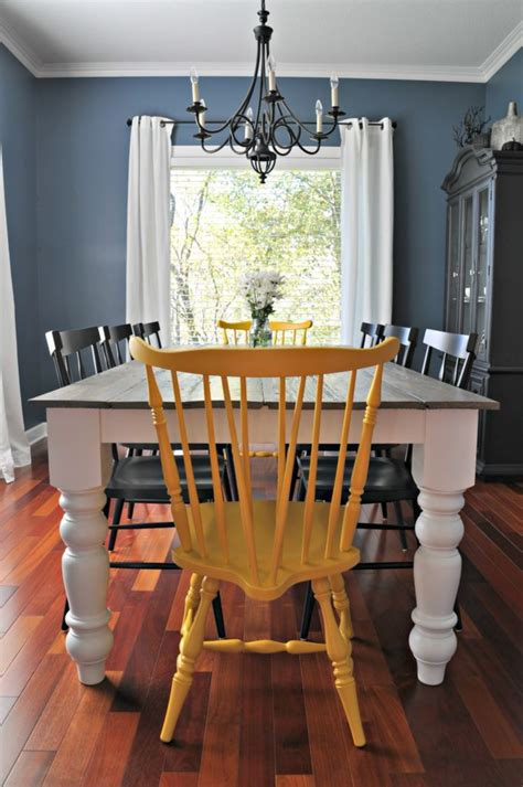 Diy Paint Dining Room Table 15 Diy Farmhouse Table To Create Warm And Inviting Dining Area Home And Gardening Ideas