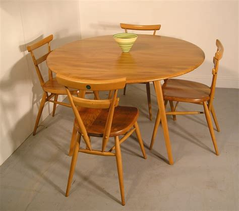 hayloft mid century ercol green dot stacking chairs and table