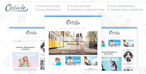download octicle personal wordpress blog theme