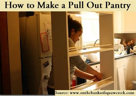 how to make a pull out pantry home and tips