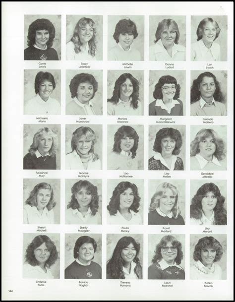 hairstyles for yearbook 1982 regina high school yearbook via classmates com
