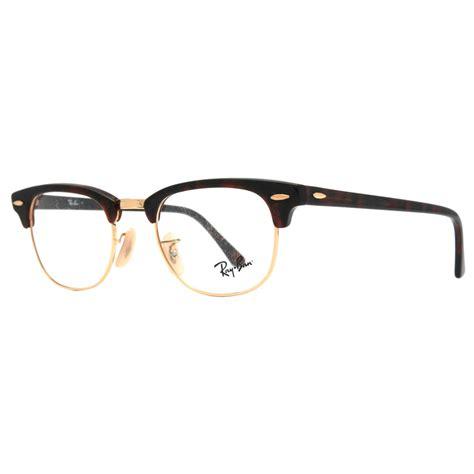 ban rx 5154 2372 gold clubmaster eyeglasses