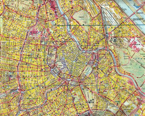 vienna map maps of vienna detailed map of vienna in maps of vienna austria tourist map of