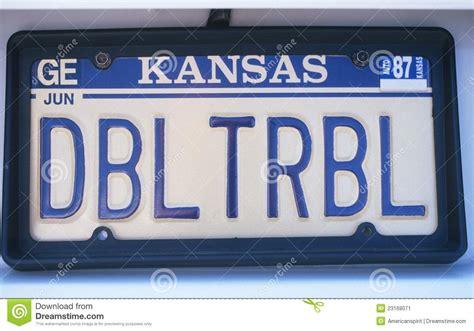Kansas Vanity Plate by License Plate In Kansas Editorial Photo Image 23168071