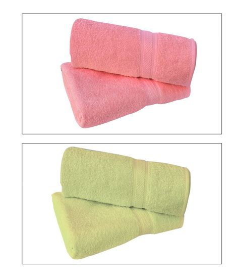 pink and green bath towels raymond set of 2 cotton bath towel green pink buy raymond set of 2 cotton bath towel