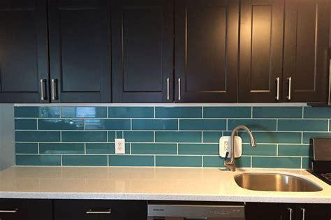 aqua subway tile backsplash turquoise subway tile backsplash hometalk